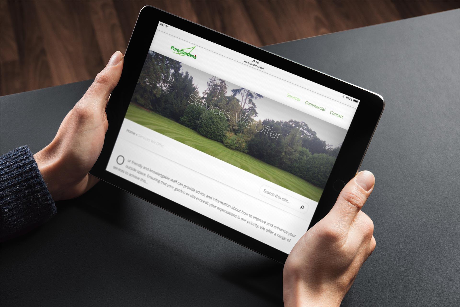 Pure Gardens website
